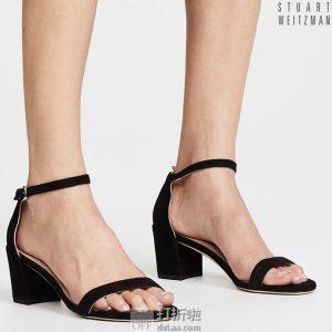 Stuart Weitzman 斯图尔特·韦茨曼 Simple 一字扣 女式粗跟凉鞋 39码3.8折$151.92 海淘转运到手¥1138 天猫¥3650